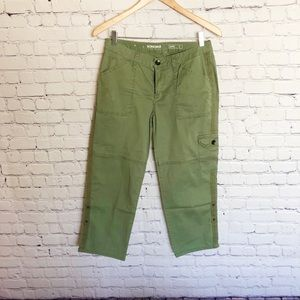 Sonoma Cargo Adjustable Capris Olive Green size 4